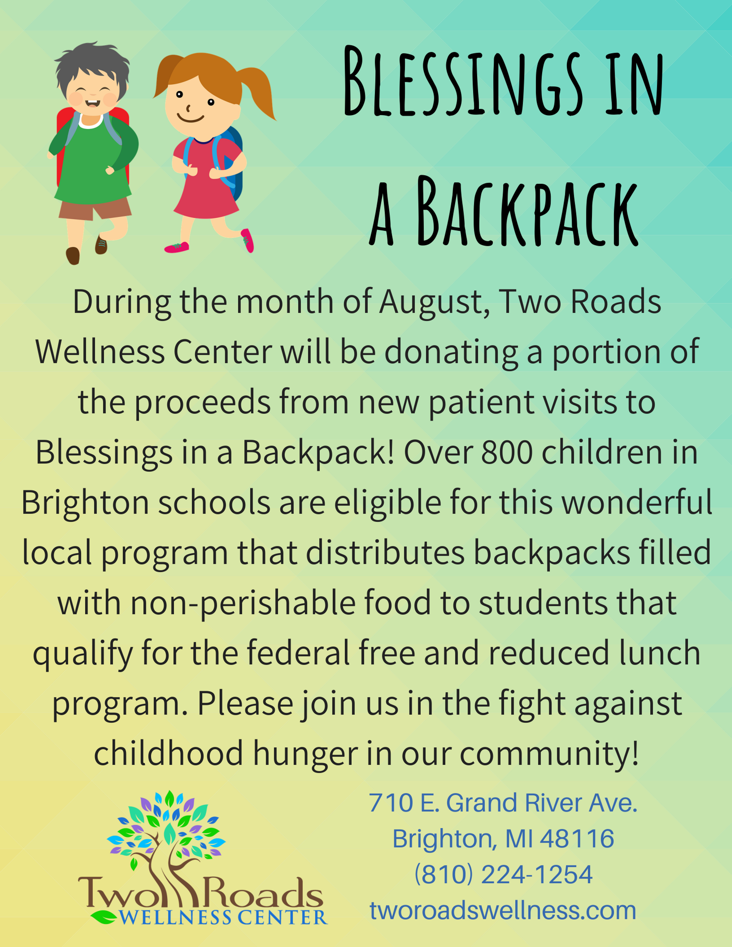 Blessings in a Backpack 1