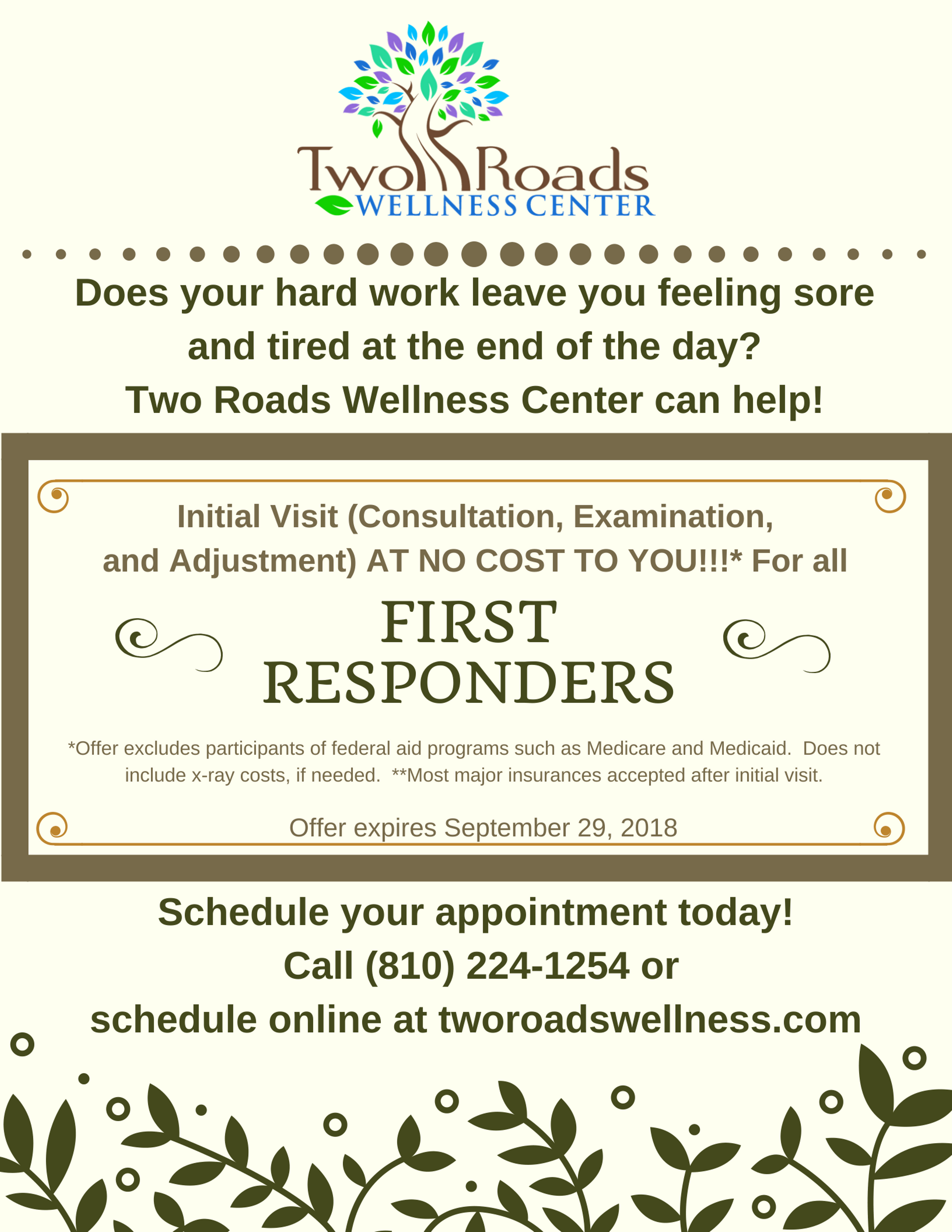 First responders first visit promo