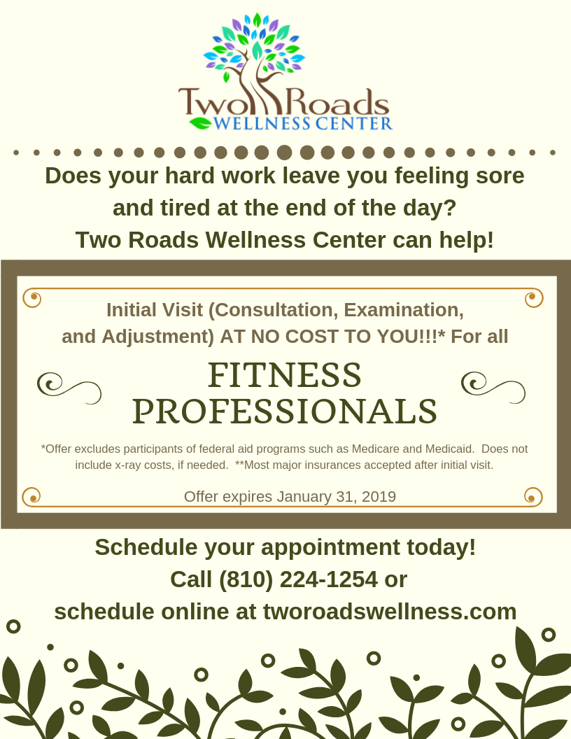 Fitness Professionals first visit promo