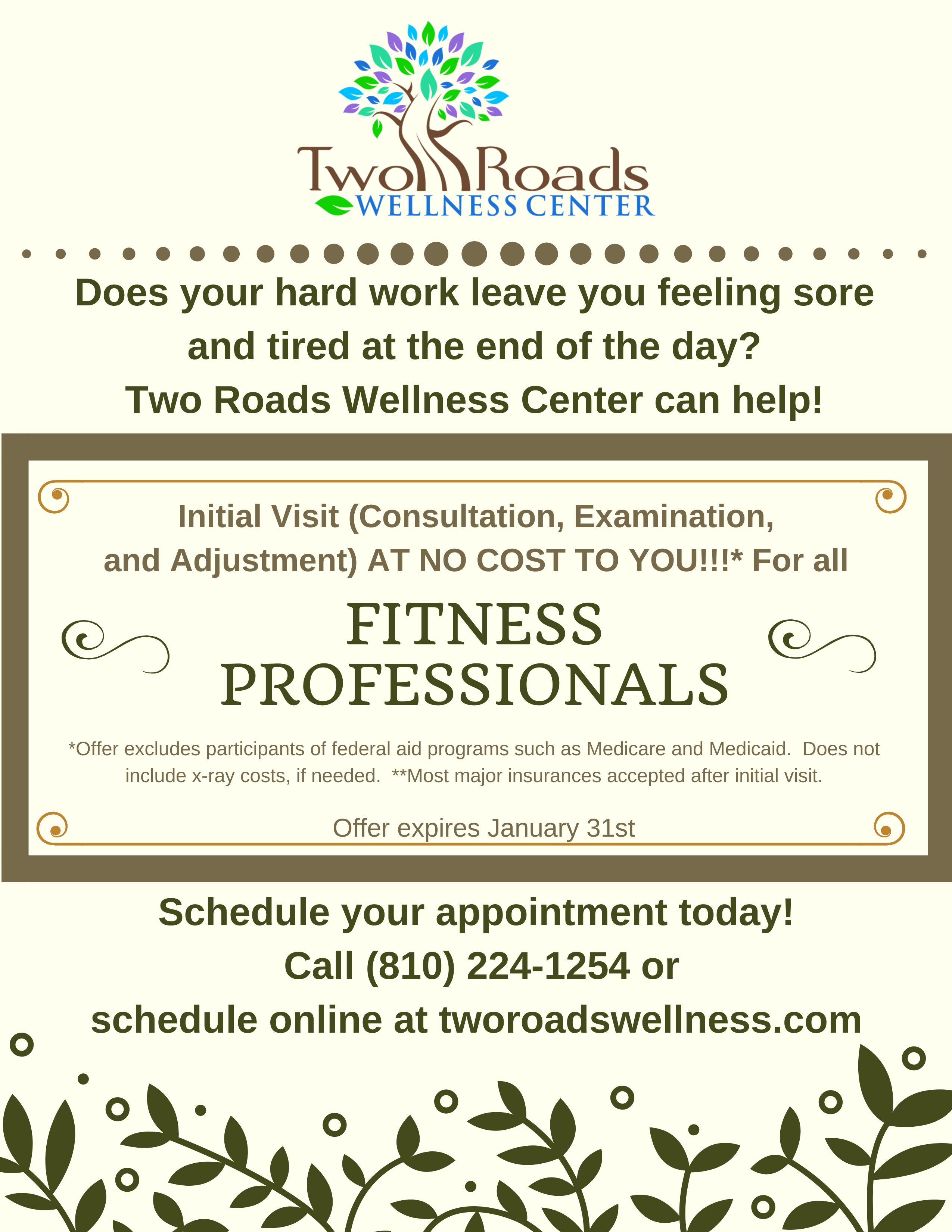 Fitness Professionals first visit promo  1