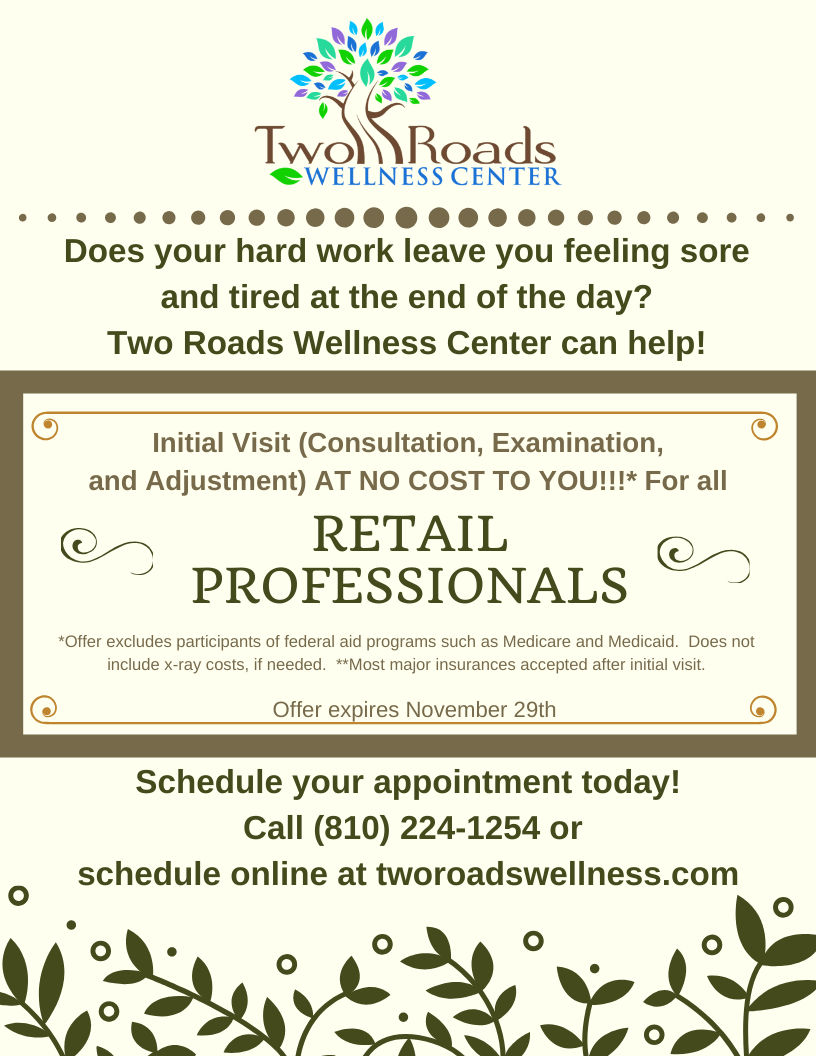 Retail Professionals first visit promo