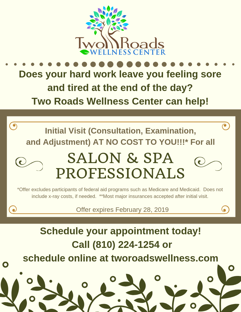 Salon  amp  Spa Professionals first visit promo
